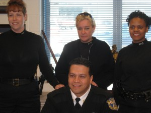 Captain Castro and his team: officers Maureen Burns, Sharon Jonas and Tina Willis