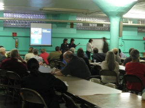 Attendees at the waterfront meeting had several questions and expressed their excitement for the project.