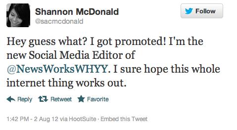I'm the new Social Media Editor forNewsWorks