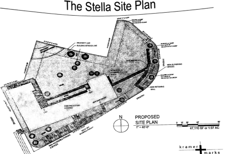 The site plan for affordable housing units at a former Northeast Philadelphia convent. Image/Columbus Property Management