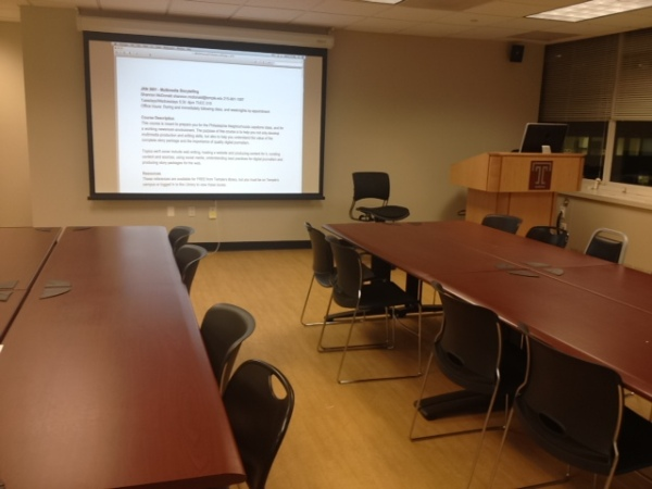 Our classroom at Temple University's Center City Campus