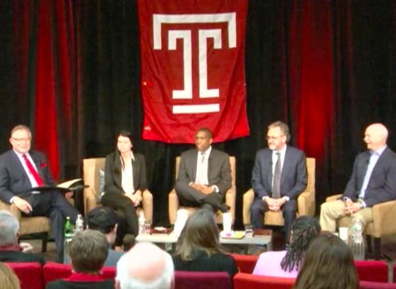 From Left: Temple University School of Media & Communication Dean David Boardman, me,