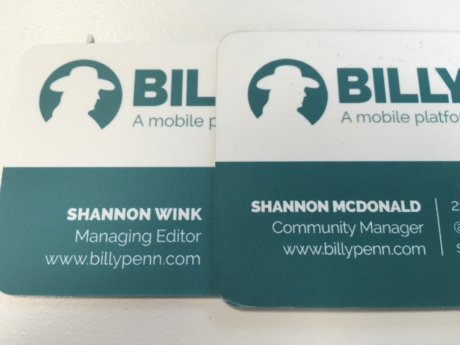 Fresh business cards to match my title change and married name.